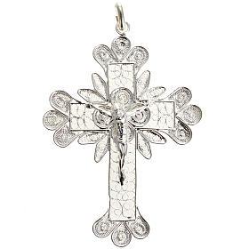 Cruz Colgante de plata 800 de filigrana y el cuerpo de Cristo s1