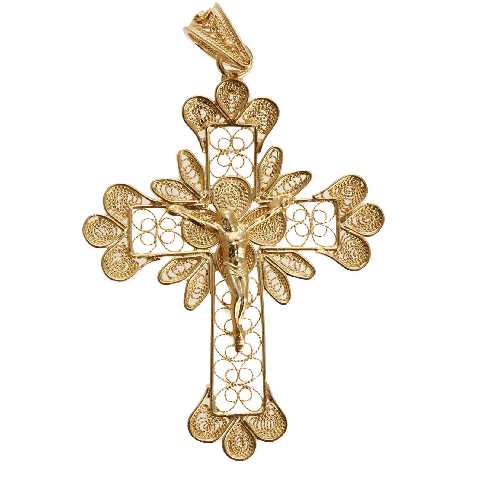 Pendentif croix trilobée filigrane argent 800 3,5 gr 4