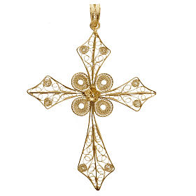 Pendentif croix pointe filigrane argent 800 4,2 gr s1
