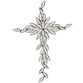 Dije de cruz en filigrana de plata 800 pesa 5,9 gr s1