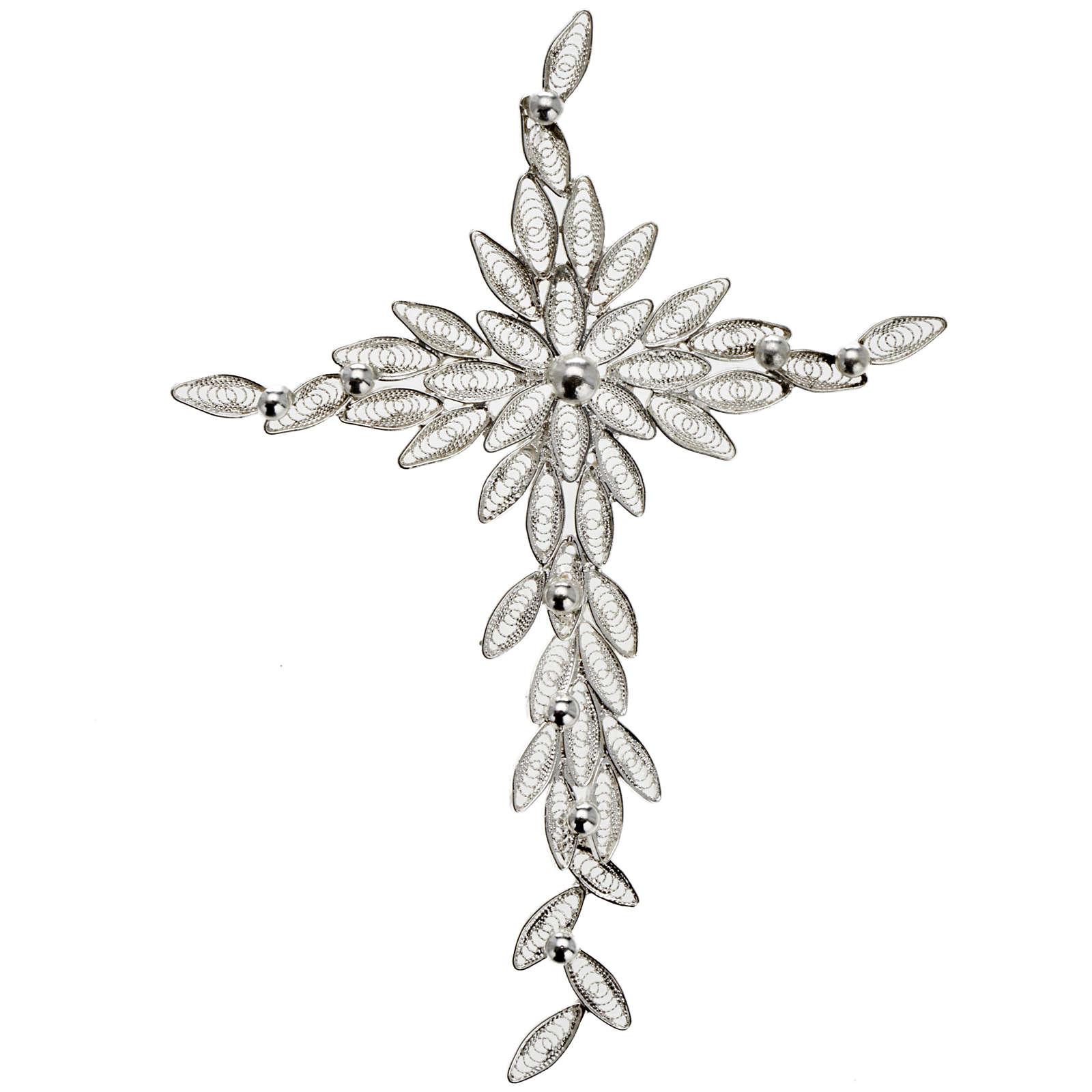Pendentif croix stylisée filigrane argent 800 5,9 gr 4