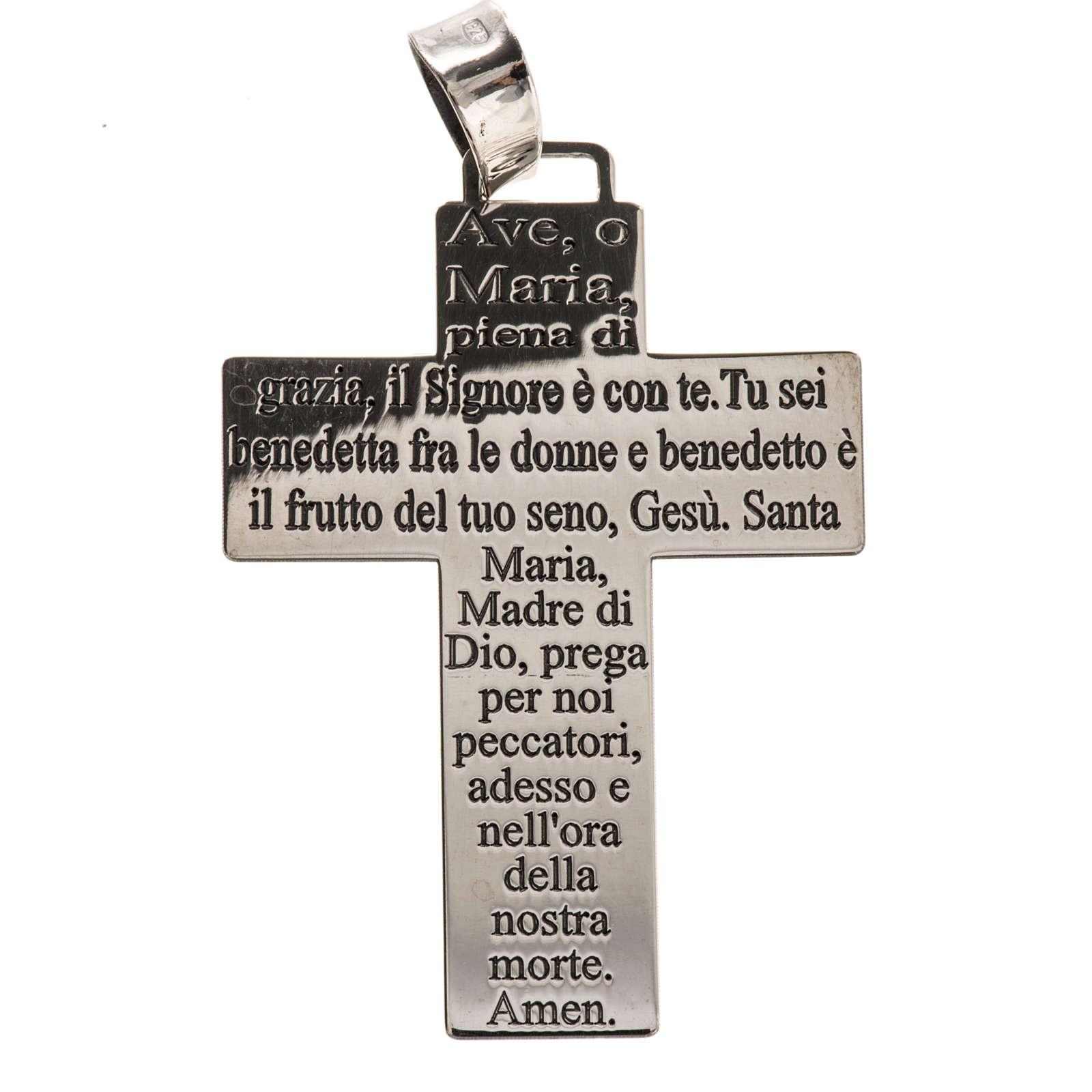 Krzyżyk srebro 925 Ave Maria 4