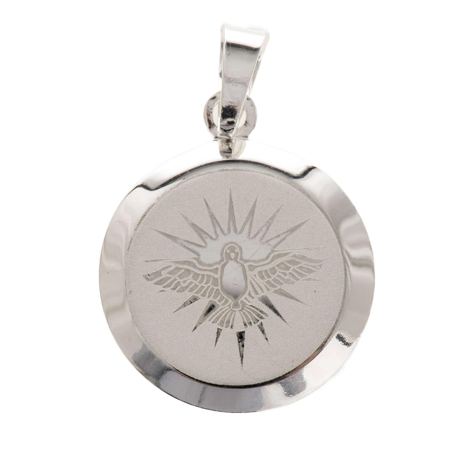 Holy Spirit medal in silver 925, enamel decoration 4