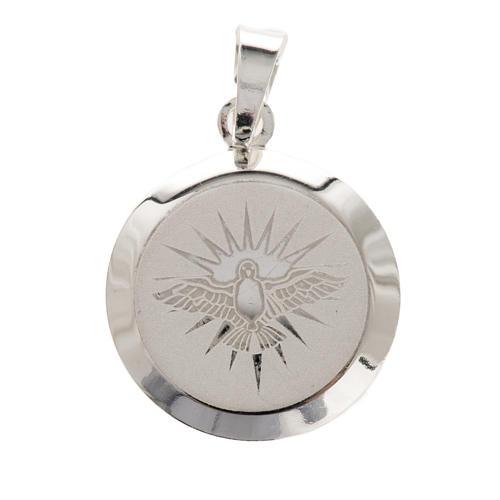 Holy Spirit medal in silver 925, enamel decoration 1