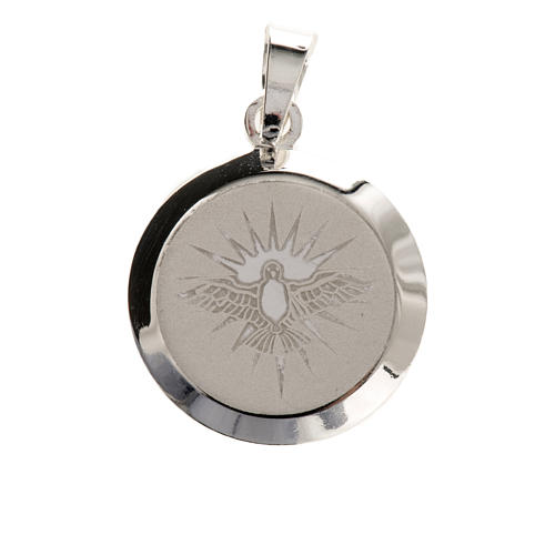 Holy Spirit medal in silver 925, enamel decoration 2