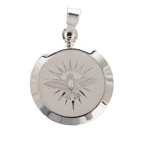Medaglia Argento 925 Spirito Santo smalto s1