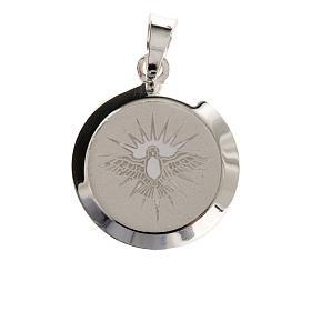 Medaglia Argento 925 Spirito Santo smalto s2