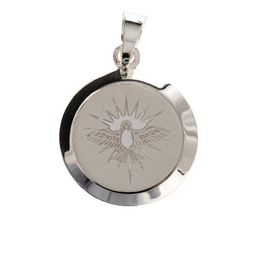 Medaglia Argento 925 Spirito Santo smalto 2