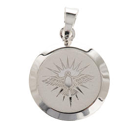 Holy Spirit medal in silver 925, enamel decoration s1