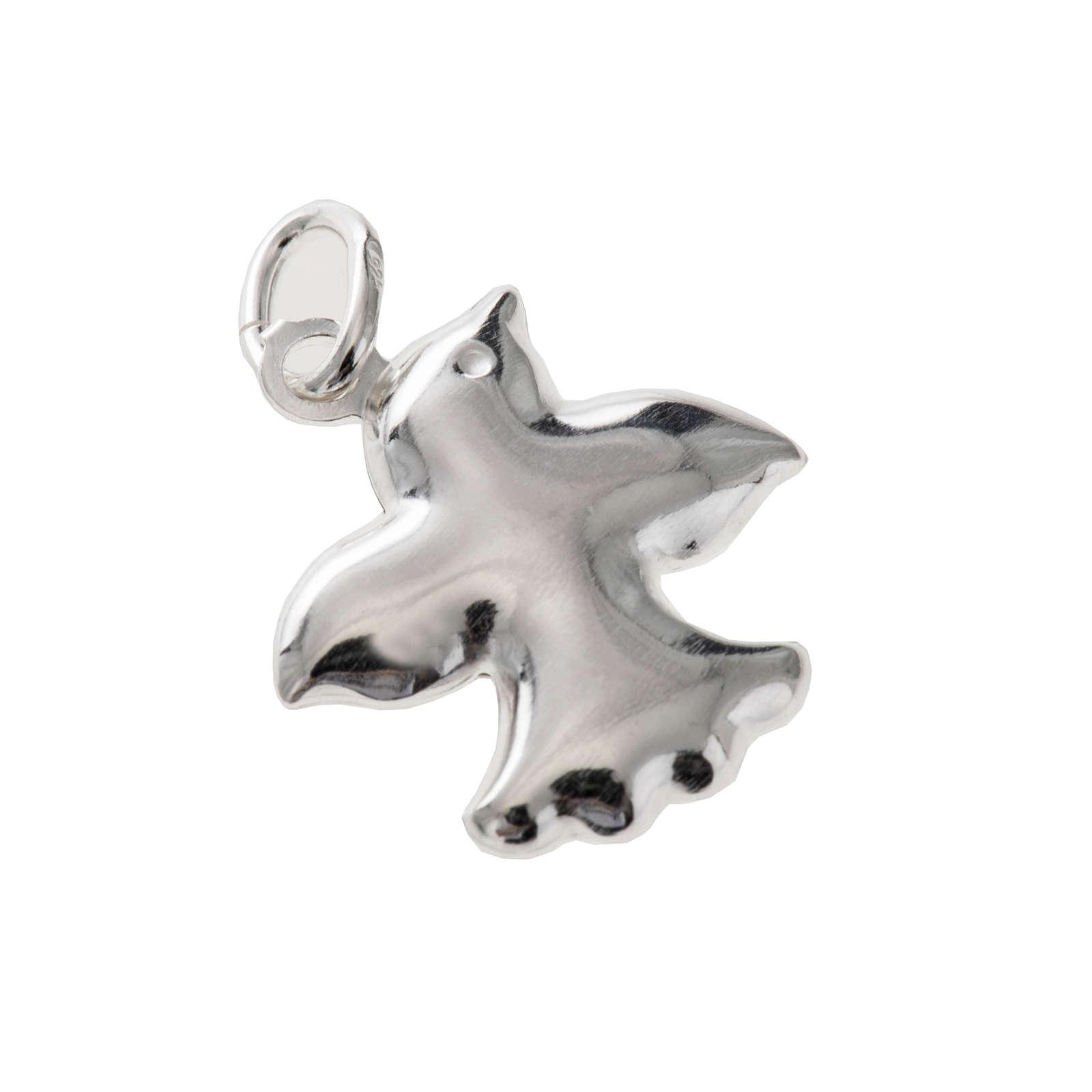 Pingente prata 925 pomba 1,5 cm 4