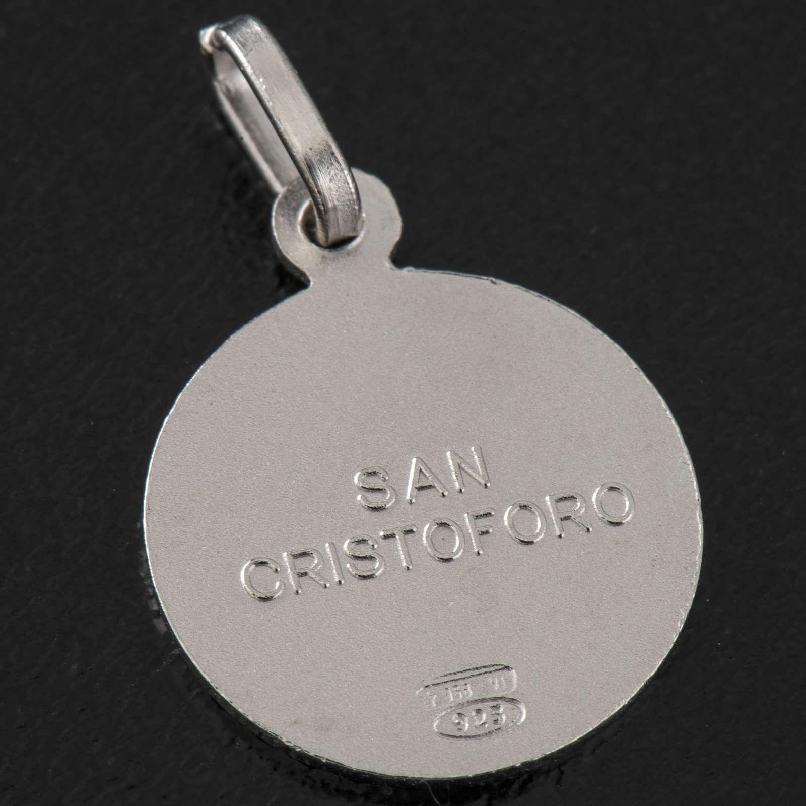 Medalla de plata 925 de San Cristoforo 4