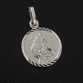Medalla de plata 925 de San Cristoforo s2