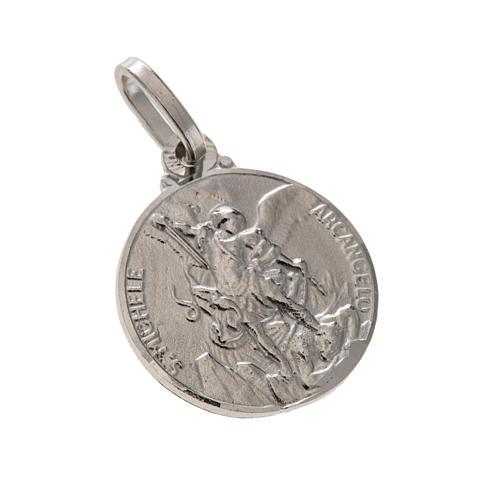 Médaille ronde argent 925 Saint Michel 1.5 cm 1