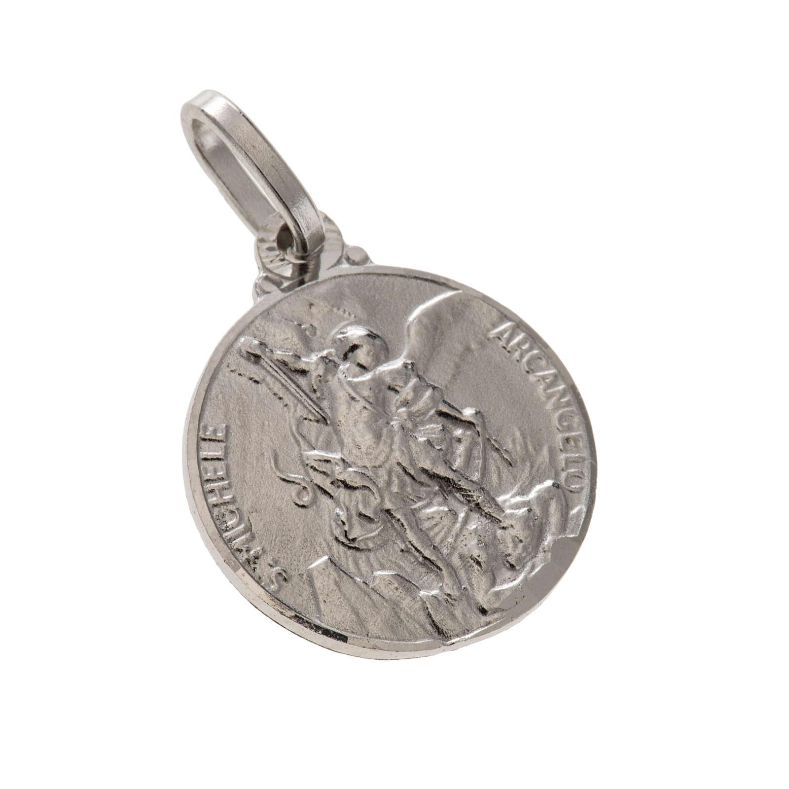 Medalik okrągły srebro 925 Święty Michał 1.5 cm 4