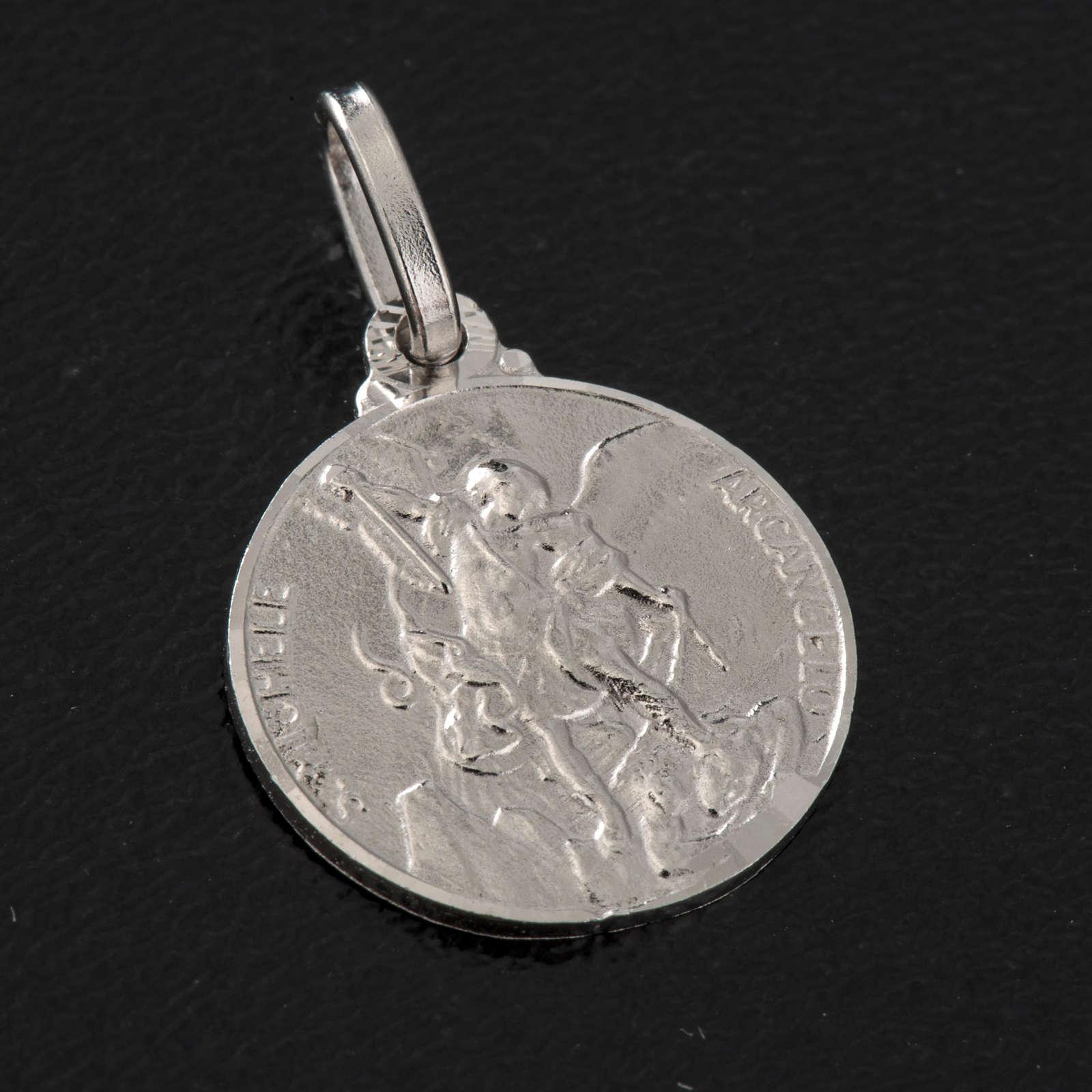 Medalha redonda prata 925 São Miguel 1,5 cm 4