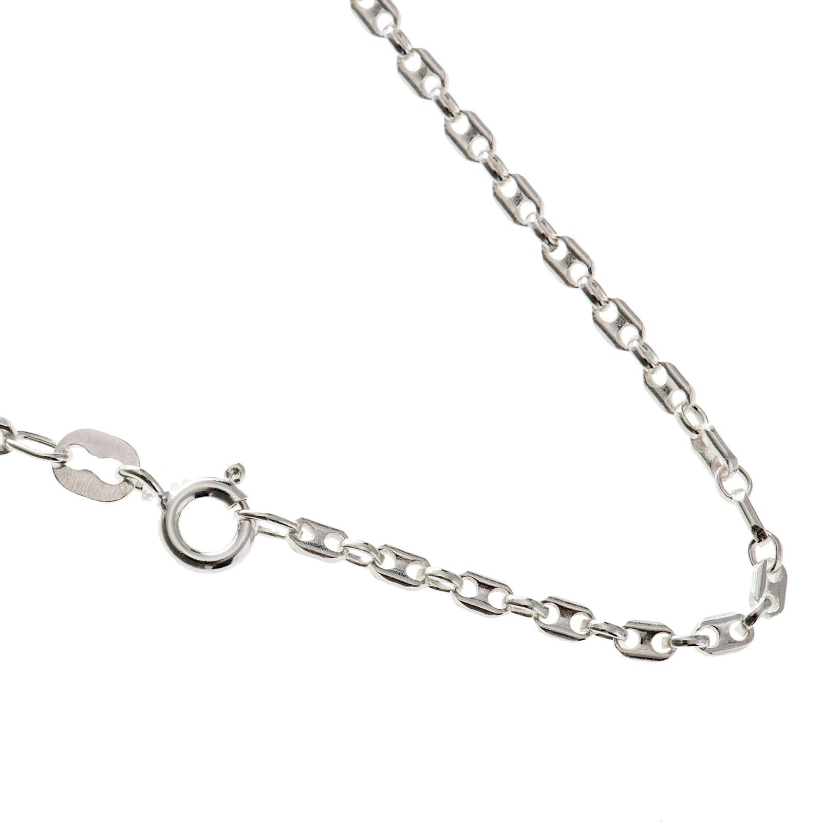 Cadena marinera, larga 40cm de plata 925 4