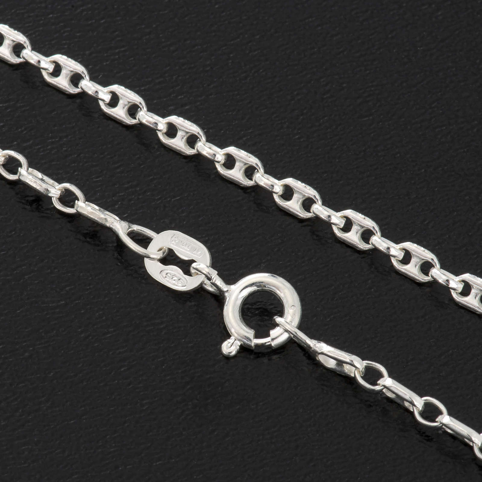 Anchor chain necklace in silver 925, 60 cm 4