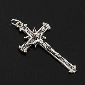 Pendente argento 925 croci raggi 4,8 cm s2