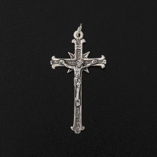 Pendente argento 925 croci raggi 4,8 cm 3