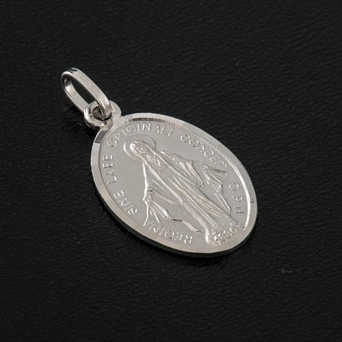 Medalla de la Virgen de la Milagrosa, plata 925 2