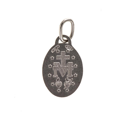 Miraculous Madonna Medal, sterling silver, 1,5cm 2