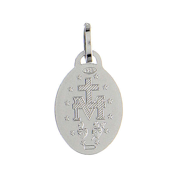Medaglia argento 925 Madonna Miracolosa 4