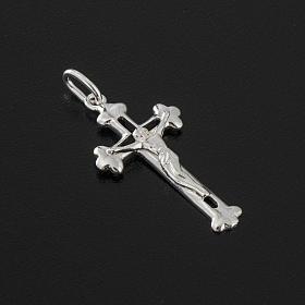 Croce trilobata arg. 925 Cristo Rilievo h 3.5 cm s3