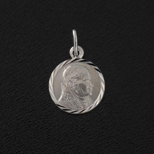 Médaille Jean Paul II argent 925 diam. 1 cm 2
