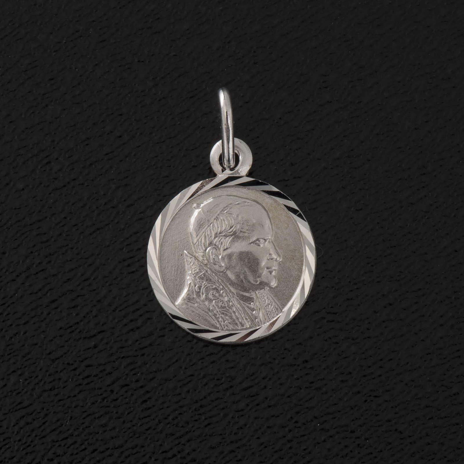 Medaglia Giovanni Paolo II argento 925 diam. 1 cm 4