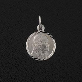 Medalik Jan Paweł II srebro 925 śr. 1 cm s2