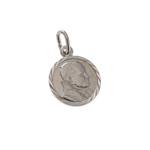 Medalik Jan Paweł II srebro 925 śr. 1 cm 1