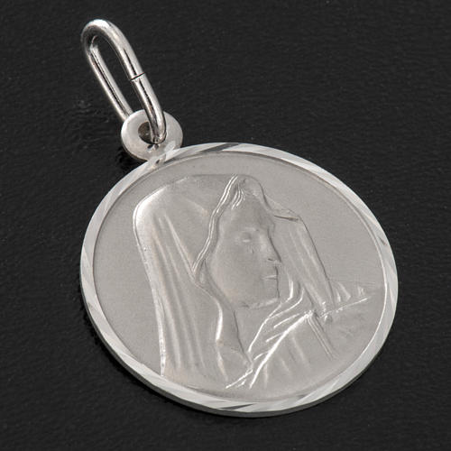 Medalla de Nuestra Señora de los Dolores, plata 925 2