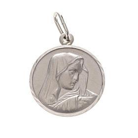 Medaglia Madonna Addolorata cm 2 argento 925 s1