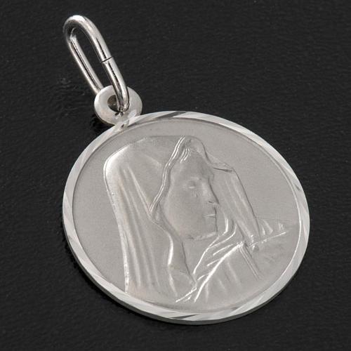 Medaglia Madonna Addolorata cm 2 argento 925 2