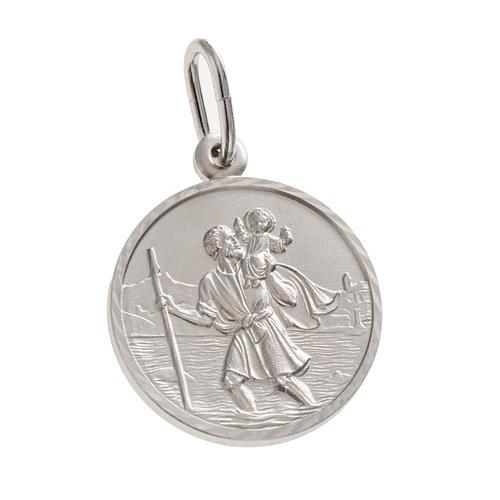 Médaille Saint Christophe argent 925 diam. 2 cm 1
