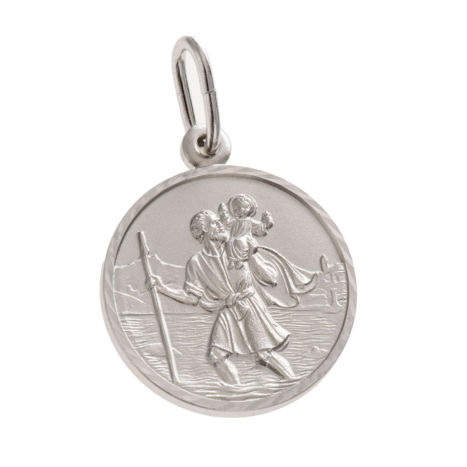 Medaglia San Cristoforo 2 cm argento 925 4