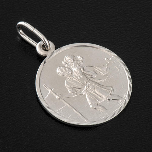 Saint Christopher medal in silver 925, 2 cm 2