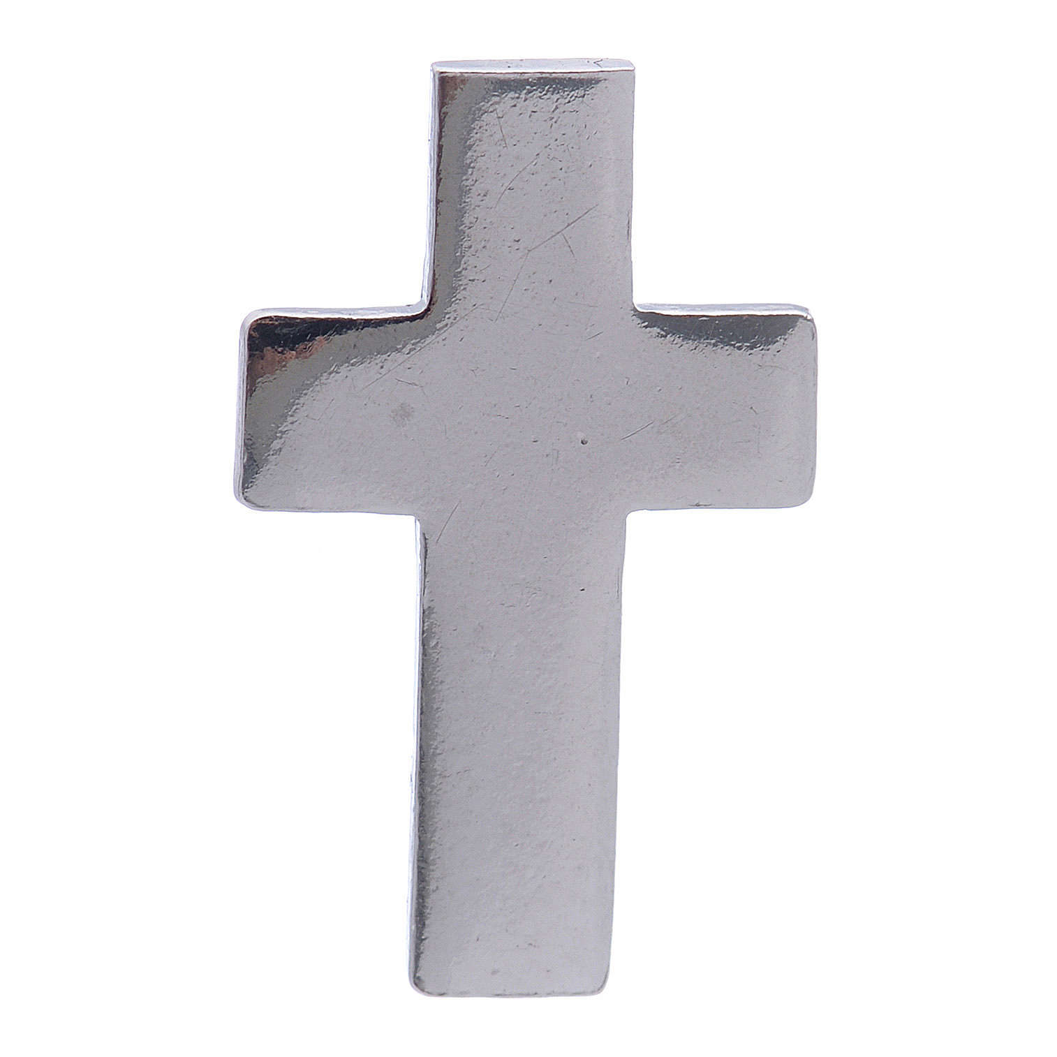 Cruz distintivo clero, broche plata 925 4