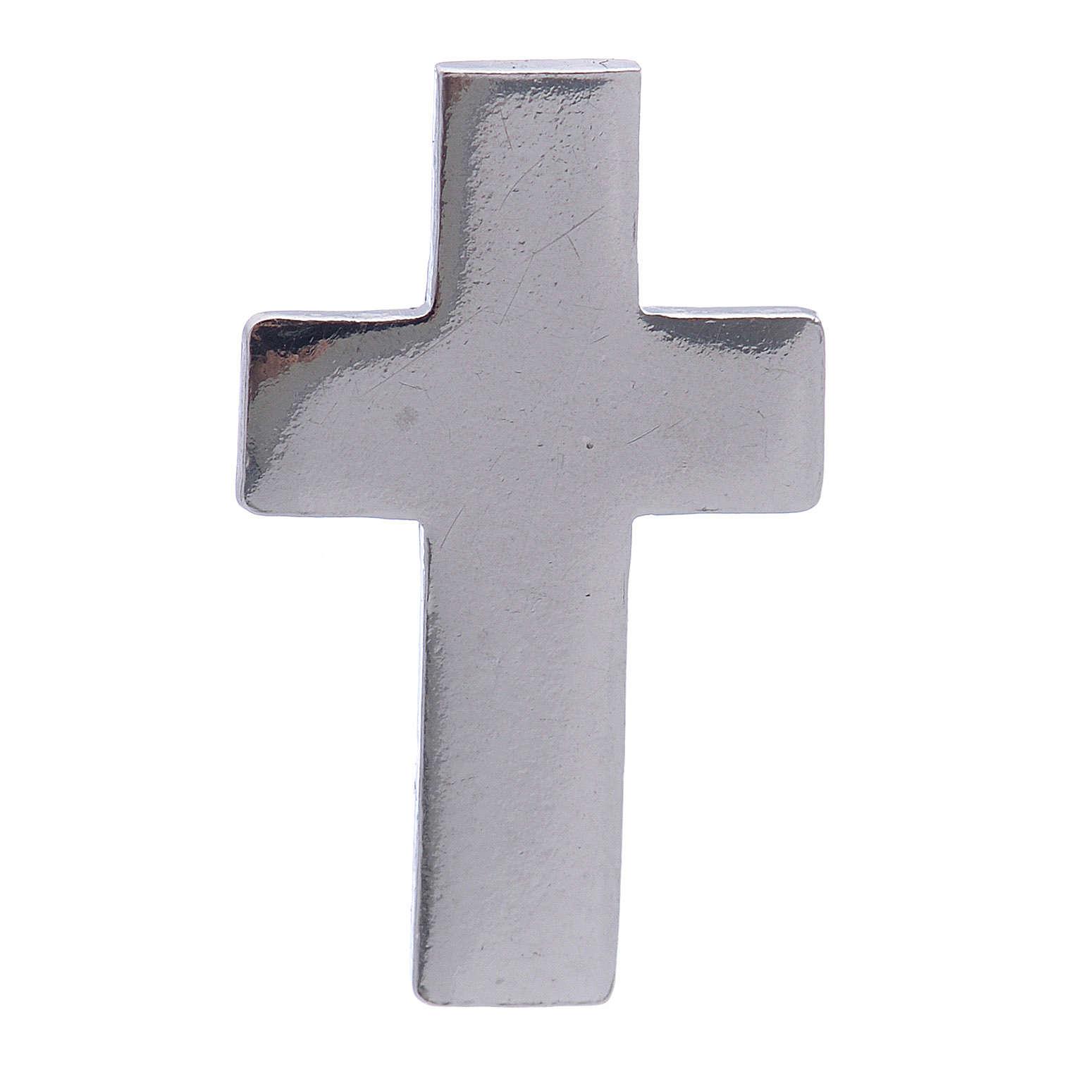 Croce distintivo clergy h 1,5 cm argento 925 4