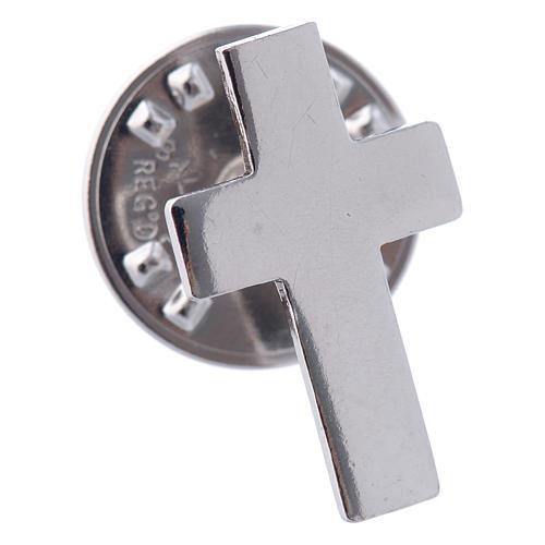 Broszka krzyż clergy srebro 925 2