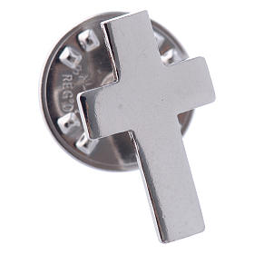 Clergy cross pin in sterling silver, H1.5cm s2