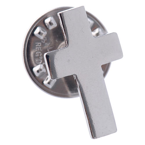 Clergy cross pin in sterling silver, H1.5cm 2
