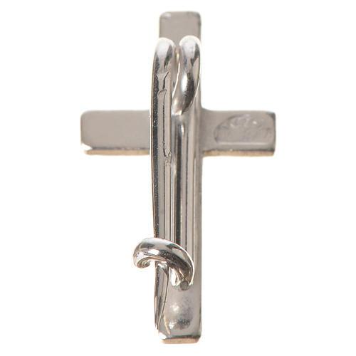 Croix de clergyman argent 925 h 1.8 cm 3