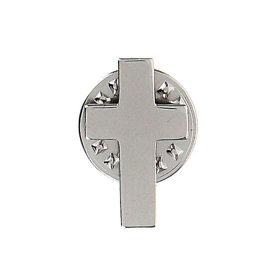 Croce clergy distintivo h 1,8 cm argento 925 4