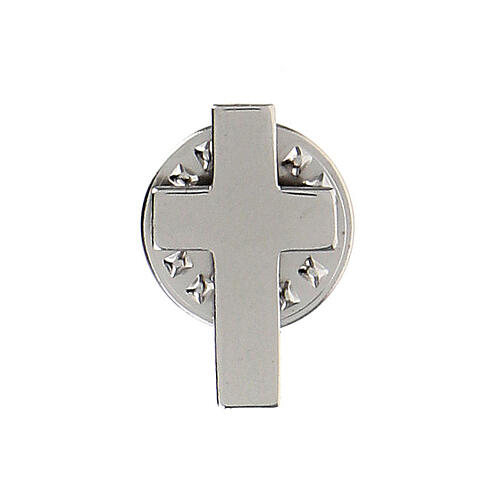 Croce clergy distintivo h 1,8 cm argento 925 1
