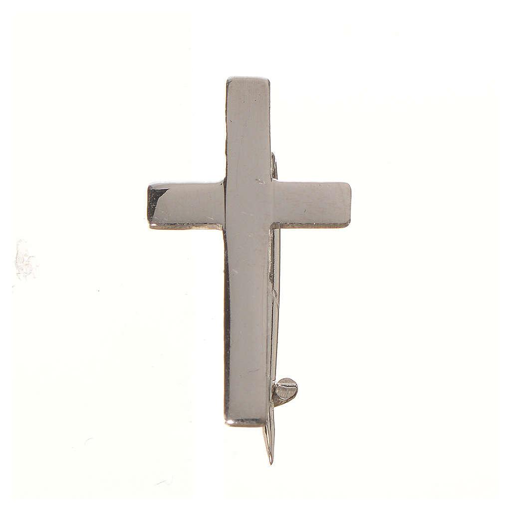 Broszka srebro 925 krzyż 4