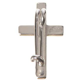Broszka srebro 925 krzyż s6