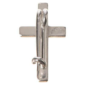 Broszka srebro 925 krzyż s3