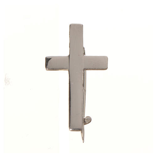 Clergy cross pin in sterling silver, H1.8cm 4