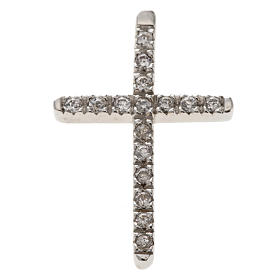 Croce argento 925 strass cm 3 s1